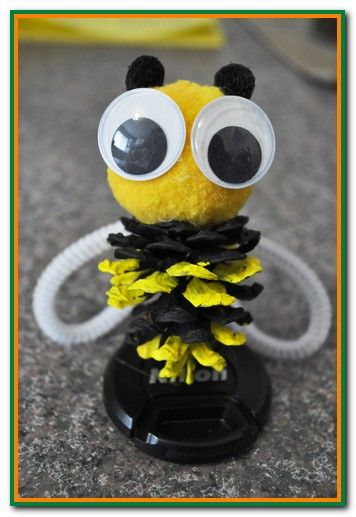 Pinecone Crafts For Kids Fun Pinecone Bumble Bees Spring