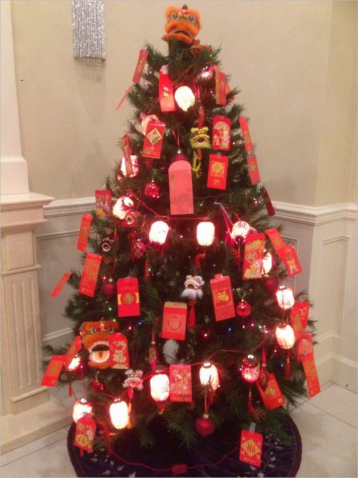 new year tree decoration ideas Chinese new year