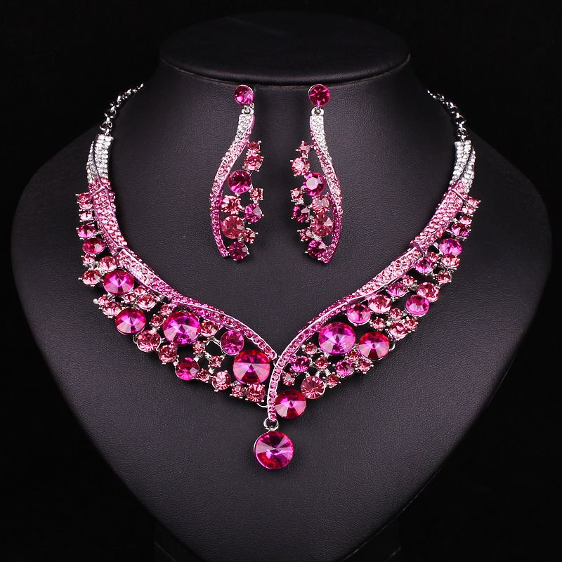 jewelry tourmaline crystal ring gold earrings necklace products set product plated pink neckl image antique turkish