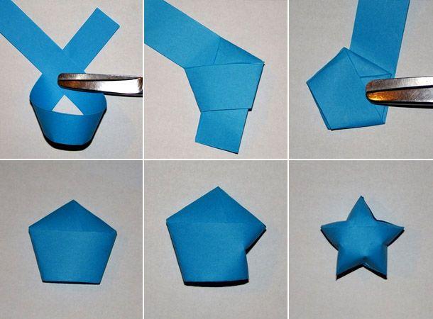 Звездочки Из Бумаги Оригами - Мастер-Класс  Оригами -9450