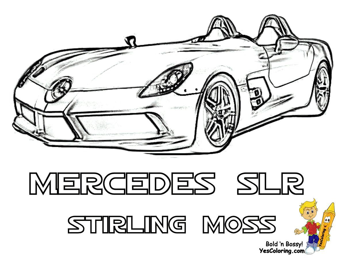 Print Out This Mclaren Stirling Moss Car Coloring Sheet You Foolin Tell Other Coloring Kids Your Eyeballs Cars Coloring Pages Super Fast Cars Fast Cars
