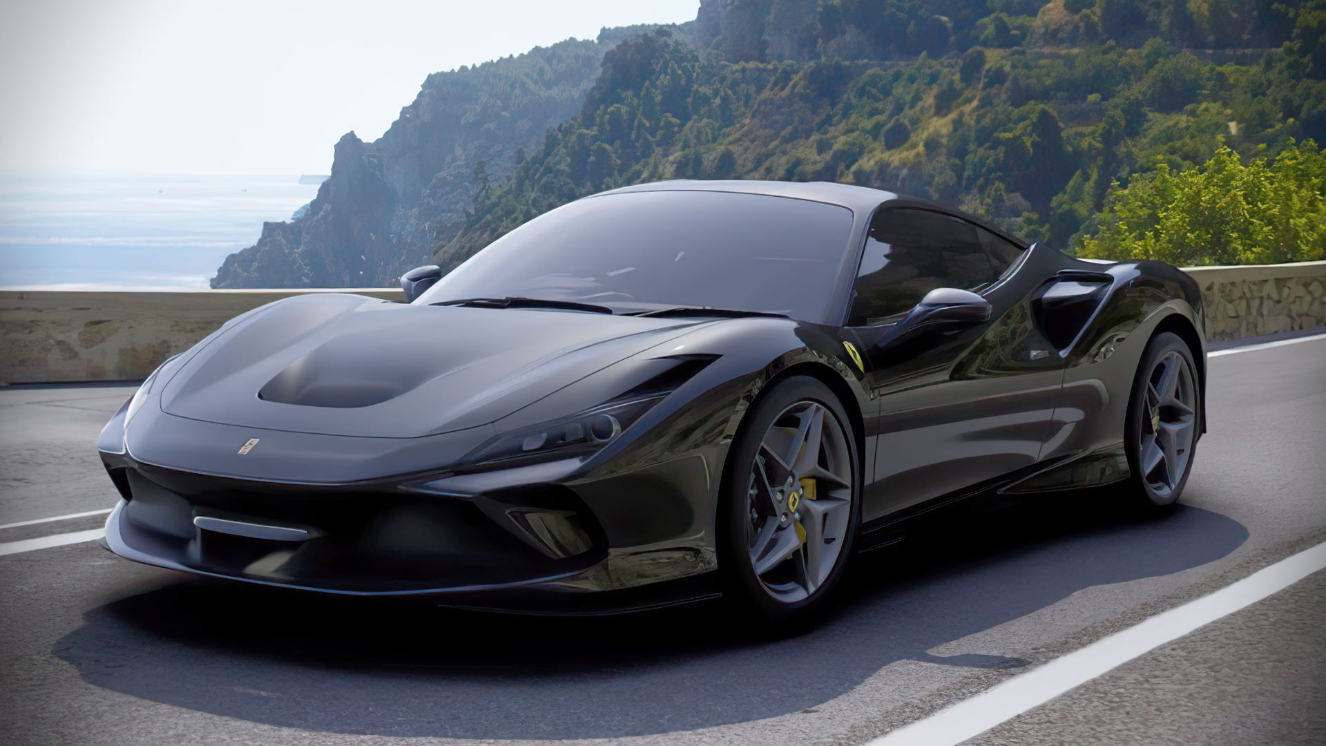 2020 Ferrari F8 Tributo Black Wallpaper In 2020 Sports Cars Luxury Ferrari Dream Cars