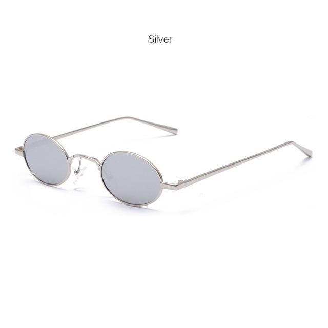 c9e26a4119 1990s Tiny Small Round Sunglasses Retro Oval Glasses in 2019 ...