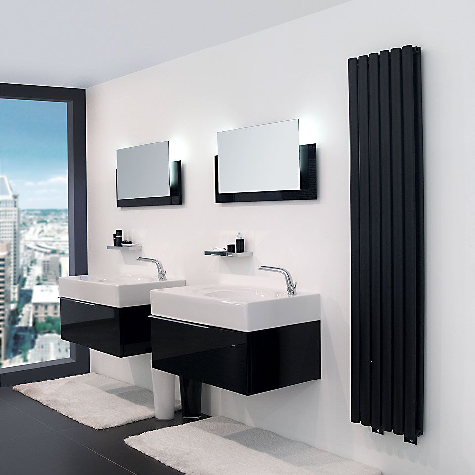 essence c radiateur noir mat salle de bain en 2019. Black Bedroom Furniture Sets. Home Design Ideas