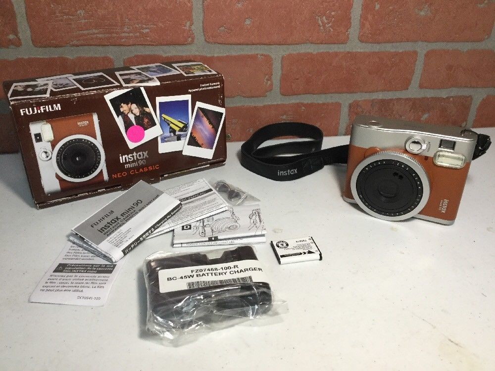 Pre Owned Brand New Battery And Charger From Manufacturer Fujifilm Model Instax Mini 90 Neo Classic Instax Mini 90 Fujifilm Instax Mini 90 Instant Film Camera