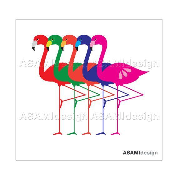 Flamingo Images Clip Art | Flamingo Clipart, Colorful Flamingo Set : Digital Clip Art PNG & JPEG ...