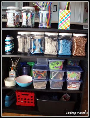 Toddler Art and Sensory Material Storage