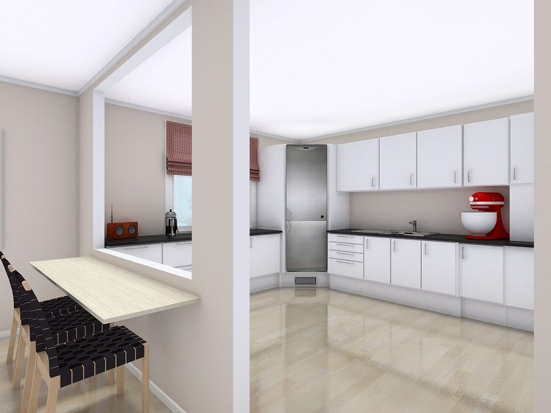 Plan Your Kitchen Design Ideas With Roomsketcher White Kitchen Remodeling White Kitchen Layouts Kitchen Design Plan your kitchen with roomsketcher