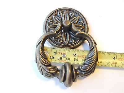 8 New Dark Antique Brass Finish Drop Ring Drawer Pulls Cabinet/Furnitur  Hardware