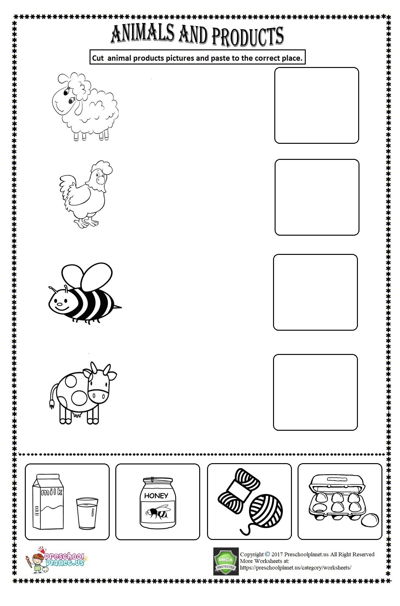 Animal Products Worksheet With Images