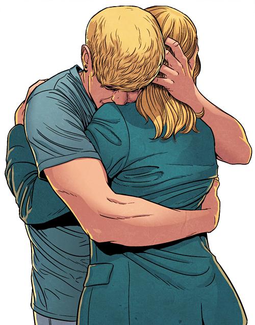 This panel makes me cry. Look at that hug. Inks Jamie