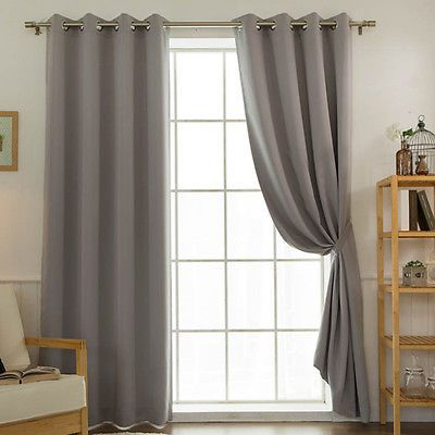Mint Solid Blackout Curtains Eyelet Grommet Nursery Curtains 102 Quot W X 92 Quot H Pair Curtains Nursery Curtains Blackout Curtains