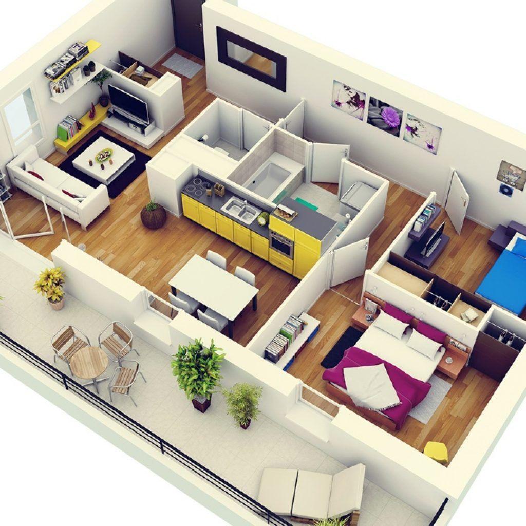 Apartment 2 Bedroom Design 2 Bedroom Apartment House Plans 2 Bedroom Apartment Ho In 2020 Small Apartment Floor Plans 2 Bedroom House Design Two Bedroom House Design