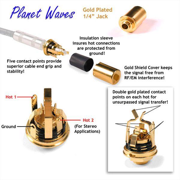 planet waves stereo jack gold plated guitar idea custom stratocaster pinterest planets. Black Bedroom Furniture Sets. Home Design Ideas