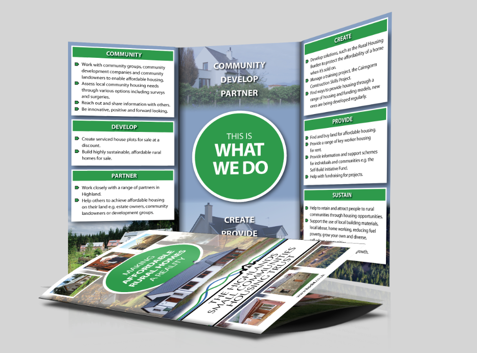 Leaflets Designed For Hscht The Highland Small Communities
