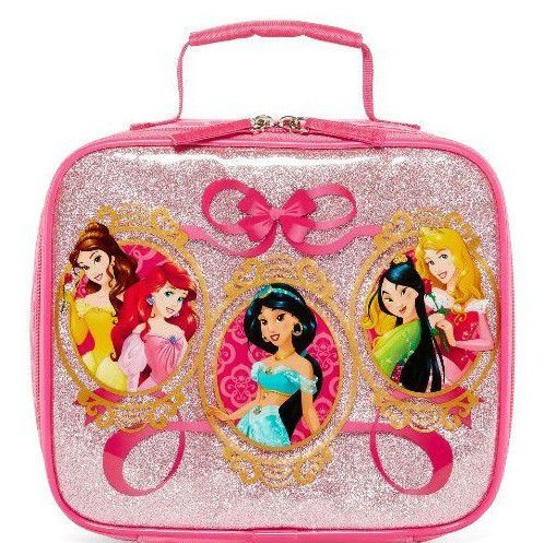 Disney Princess Lunch Box Bag Tote School Pink Ariel Belle Jasmine Aurora  Mulan… 8156e3be710cb