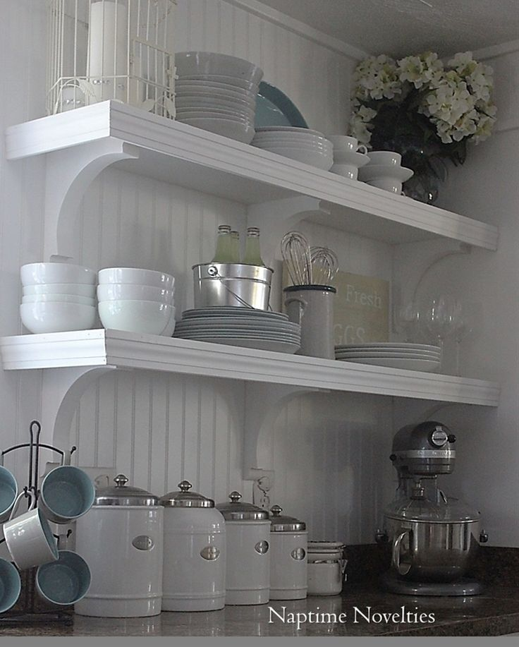 Naptime Novelties Shelves Farmhouse Style Kitchen Home Decor