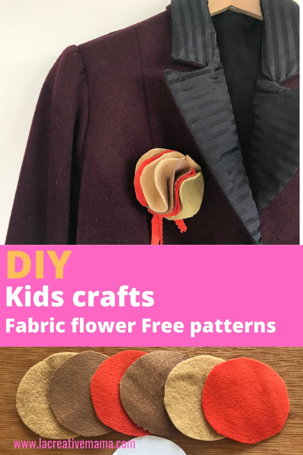 How to make a fast and easy fabric flower - La creative mama -   23 fabric crafts for kids to make ideas