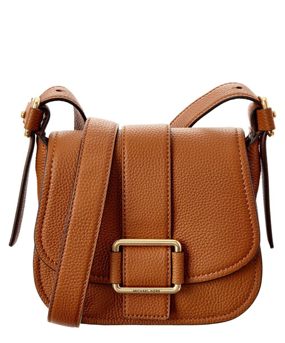 f5e385b0232 MICHAEL MICHAEL KORS Michael Michael Kors Maxine Medium Leather Saddle Bag .   michaelmichaelkors  bags  shoulder bags  leather  lining