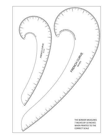 photo about Printable French Curve titled No cost printable French curve classified inside inches Sew Sewing
