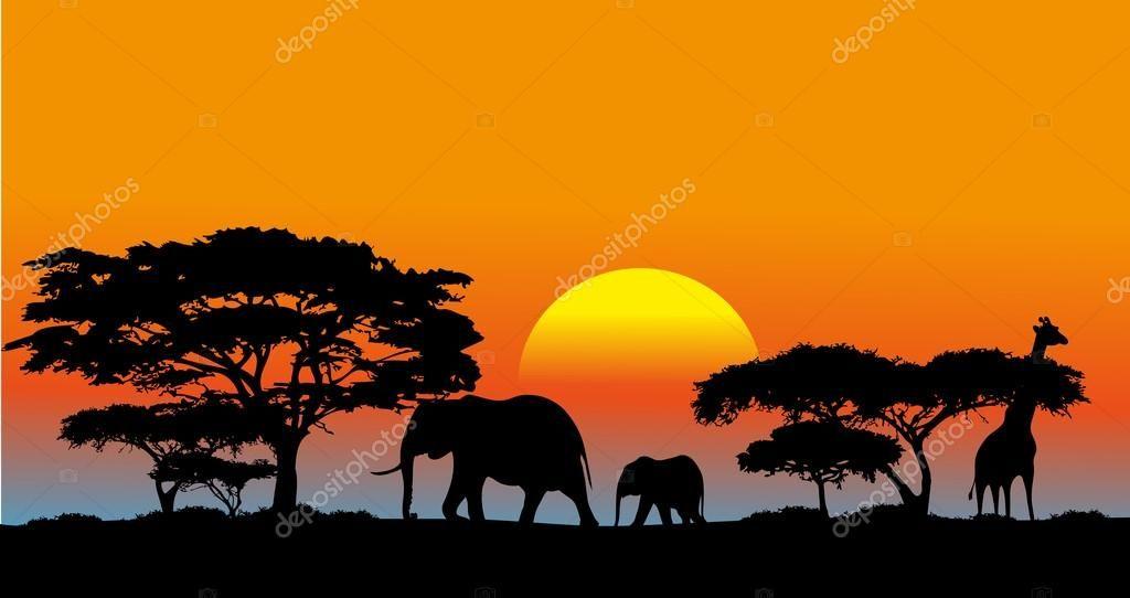 Baixar Savana Africana Ilustração De Stock Savana Africana Savanas Animais Africanos