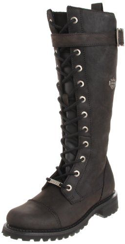Harley Davidson Women's Savannah Motorcycle Boot,Black,7 M