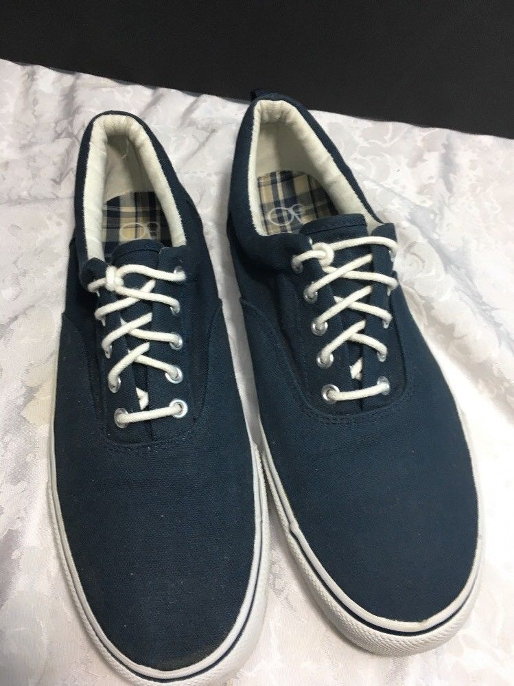 Mens Tennis Shoes Blue LACE UP CANVAS SNEAKERS Casual Boat SIZE 13 | Canvas  sneakers, Tennis and Boating