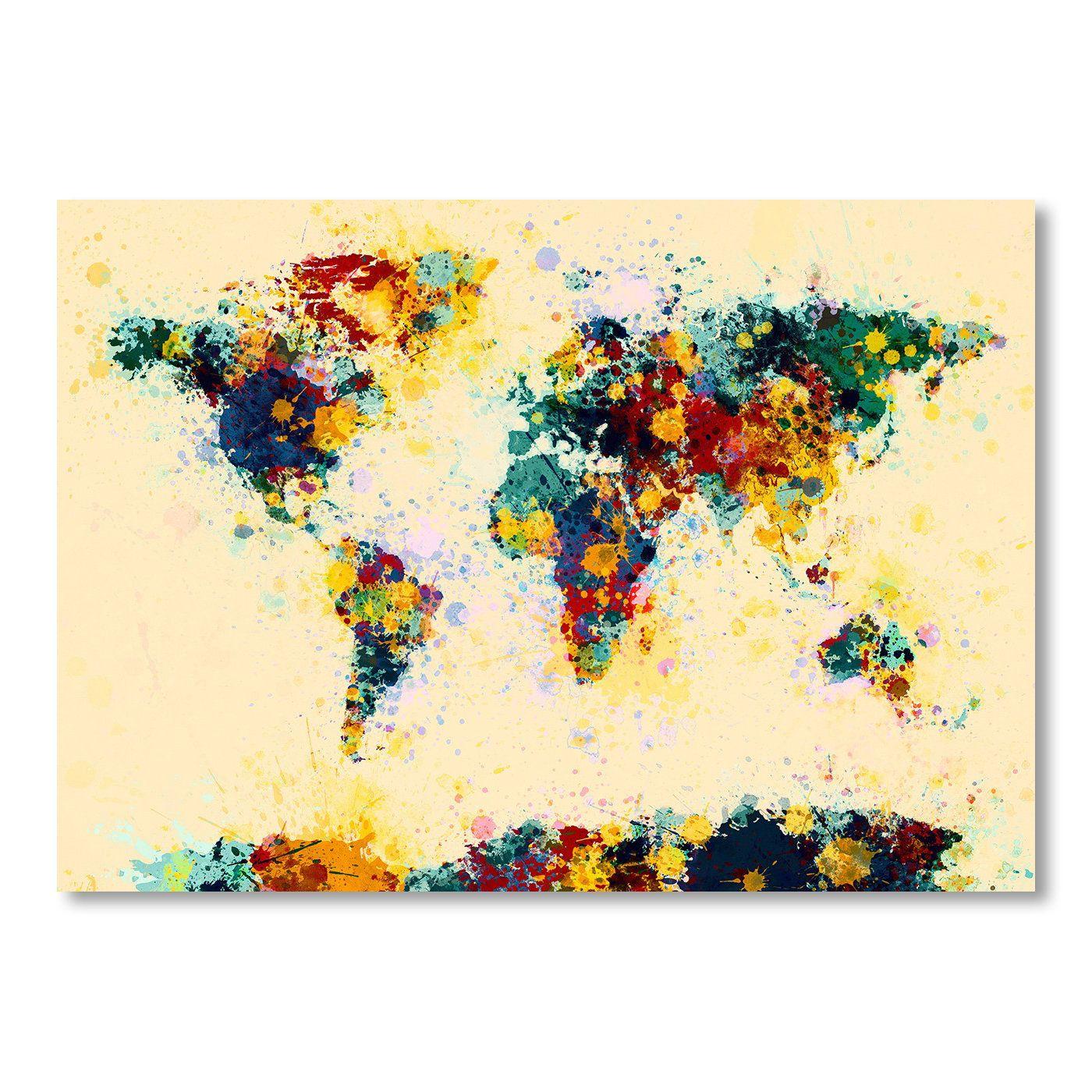 World Map Watercolor Wall Mural | Watercolor | Pinterest ...