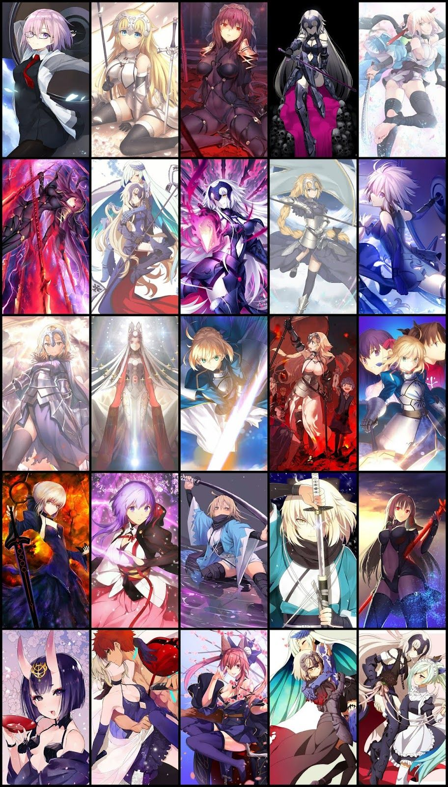 Fate Grand Order Wallpaper Pack For Mobile Phone Part 03 Anime