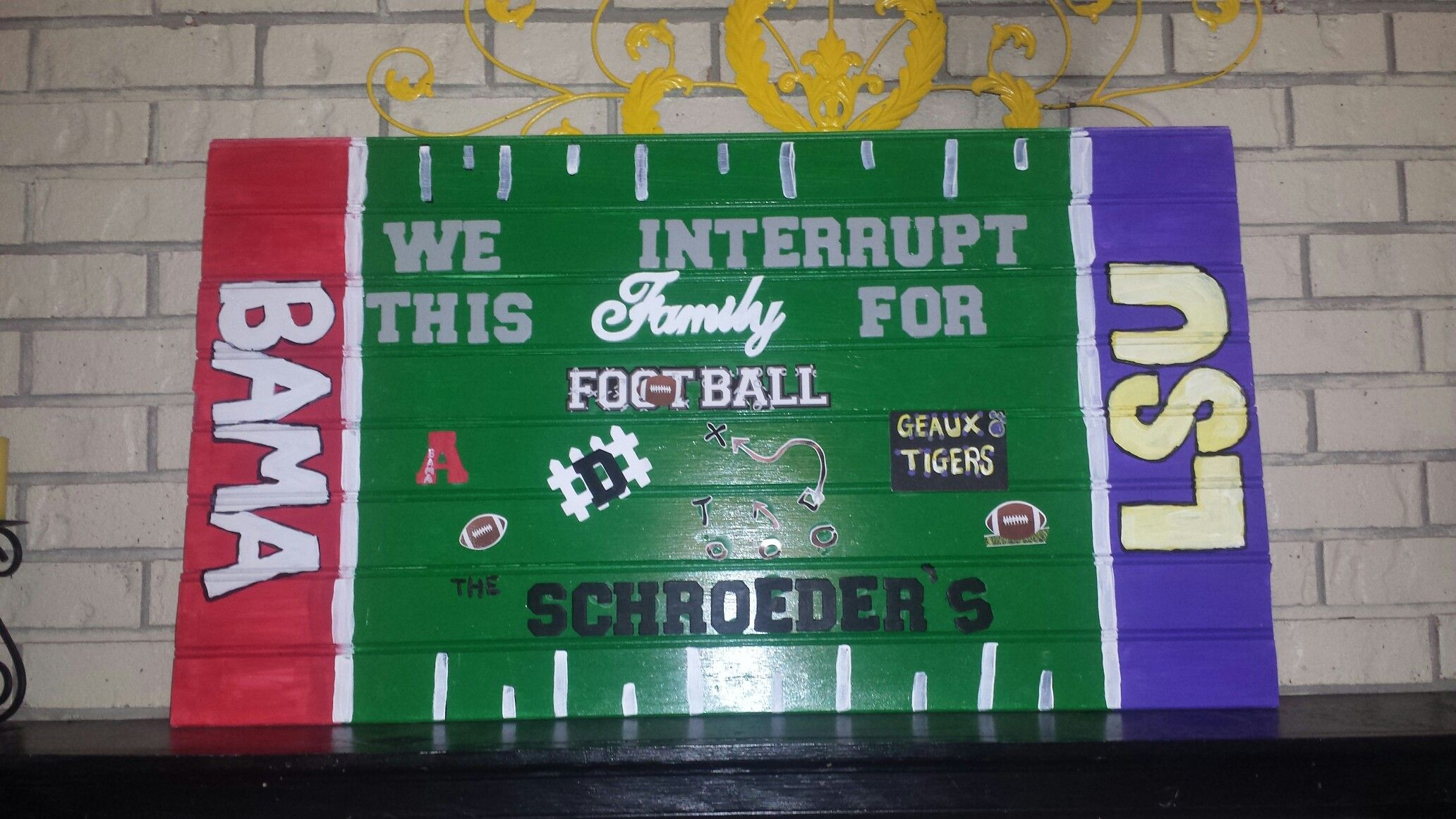 We Interrupt This Marriage For Football Alabama Lsu House Divided Home Decor