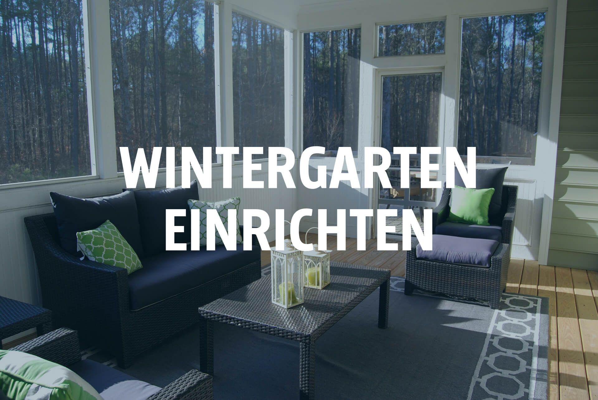 Ein Wintergarten lädt zum relaxen ein. Der Einrichtung, Gestaltung ...