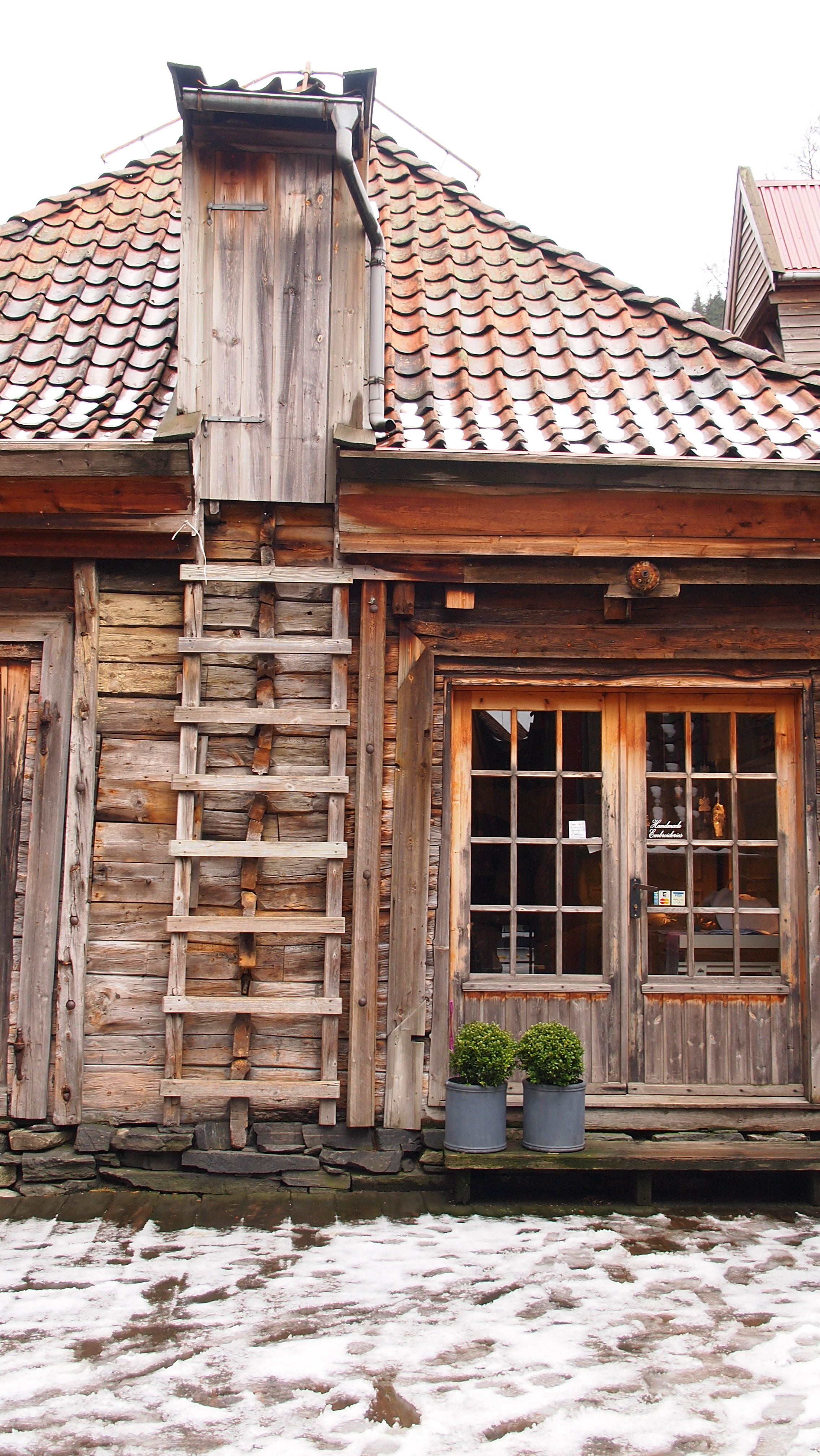 Bergen, Norway -Ancient store building - beautiful wood.   NORWAY ...