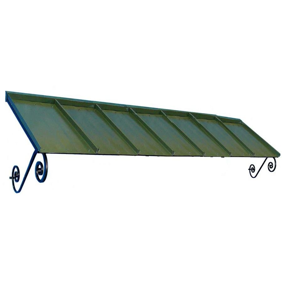 Americana Building Products Orleans 126 In Wide X 36 In Projection Solid Open Slope Window Door Fixed Awning At Lowes Com Windows And Doors Awning Door Awnings