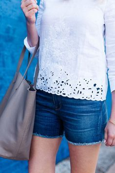 Embroidered eyelet top....