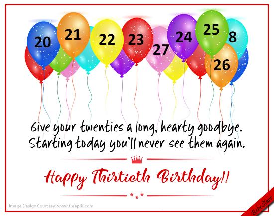 Happy Birthday Ecard For Someone Turning 30 Happybirthday
