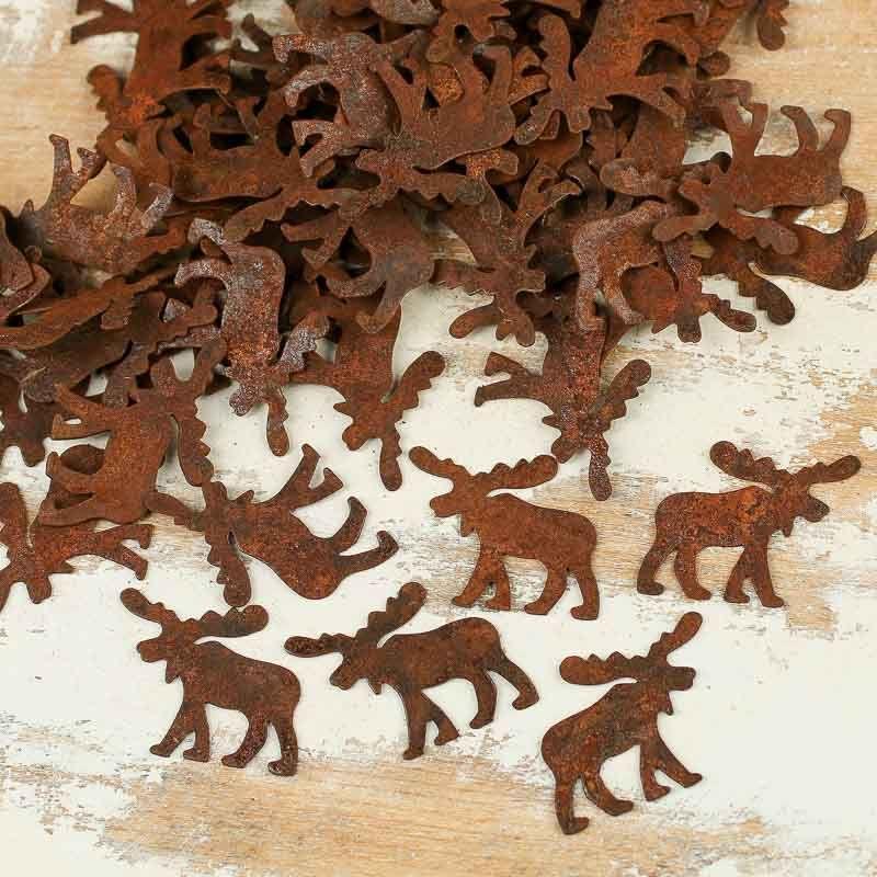 Rusty Tin Moose Cutouts