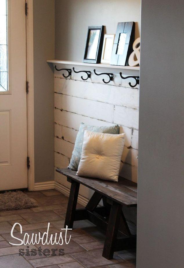 Diy Hallway Wall Decor : Diy entry way plank wall ways decor and entryway
