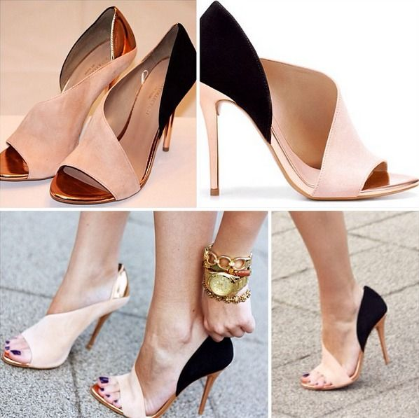 """Of course I had to fall in love with these Zara heels a year after they were released. How gorgeous are these Zara """"Laminated Heel Sandal"""" in Beige?! I lovelovelove these. Anyone have a size 9/39/40? :P"""