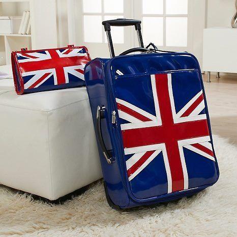 union jack luggage.