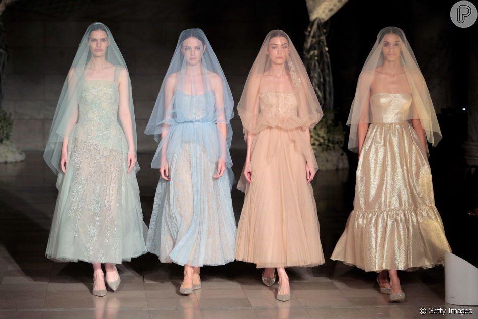 Bridal fashion week 2019 Tendência para noivas antenadas