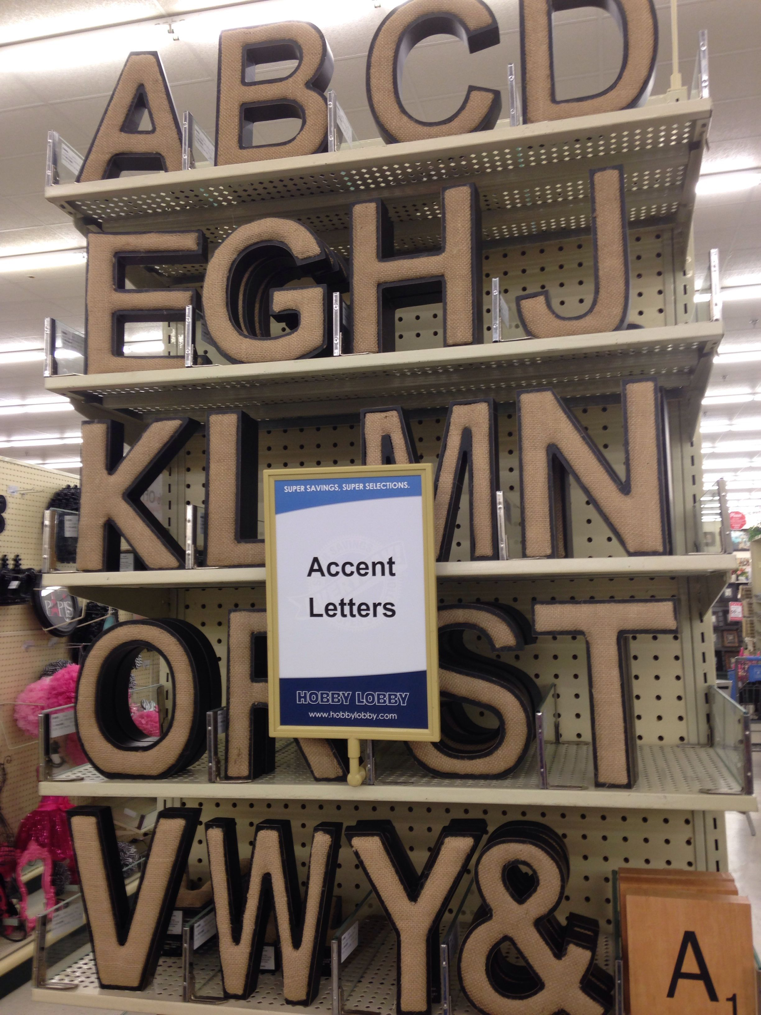Cute Burlap Letters From Hobby Lobby Burlap Letter Hobby Crafts