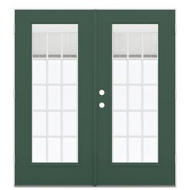 Reliabilt 71.5-In Blinds Between The Glass Evergreen Steel French Outswing Patio Door Lowoljw205900398