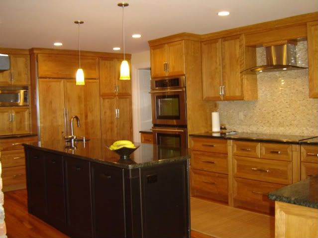 it won't look like this, but we are going with red birch cabinets in