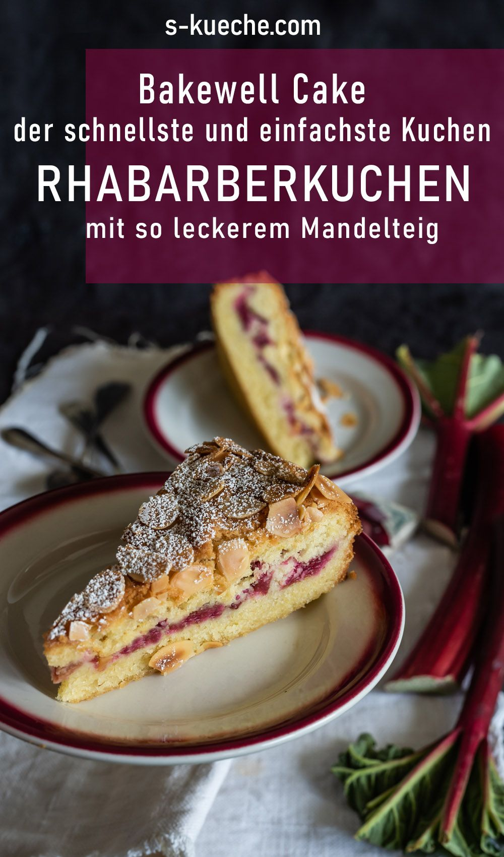 Photo of Ruck-Zuck rhubarb cake with such a delicious almond dough – Bakewell Cake