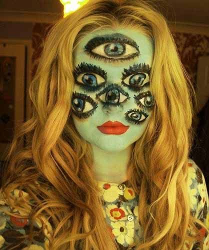 25 Best Cool and Scary Halloween Makeup Looks of 2013 Halloween - halloween horror makeup ideas