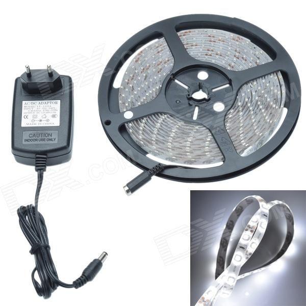 Waterproof 24W 1200lm 300 x SMD 3528 LED Cool White Epoxy Car Decoration Light Strip - (12V / 500cm)
