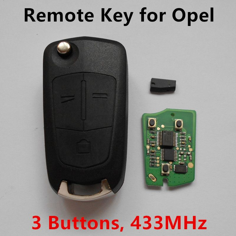 3 Buttons Remote Car Key 433mhz For Vauxhall Opel Antara Keyless