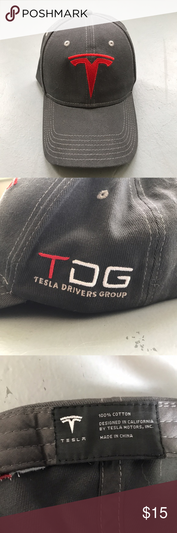 dc3afacaed2 Tesla Drivers Group Hat Tesla Motors Official Tesla Drivers Group baseball  cap. Accessories Hats