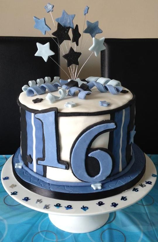 Fantastic 16Th Birthday Cakes For Boys Boys 16Th Birthday Cake Cooking Personalised Birthday Cards Veneteletsinfo