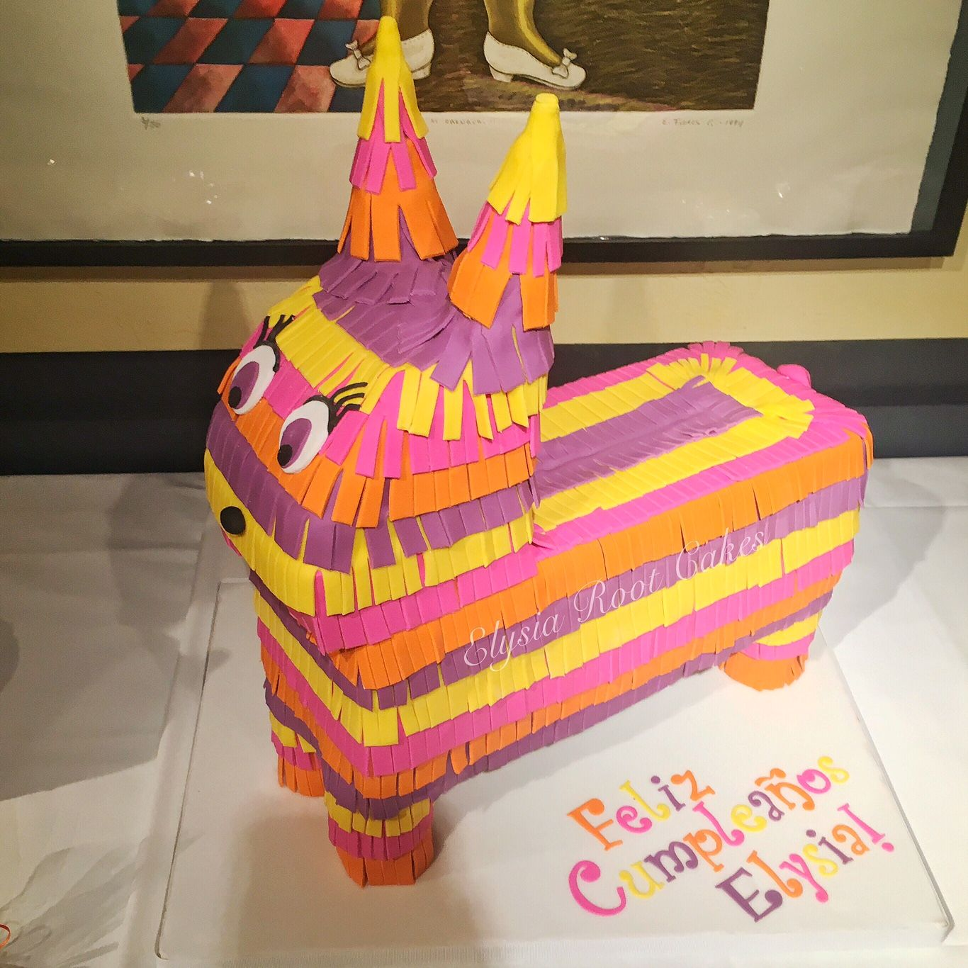Elysia's piñata birthday cake! Cake by Elysia Root Cakes
